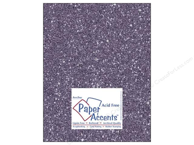 Cardstock 8 1/2 x 11 in. #5116 Glitz Silver/Violet by Paper Accents 5 pc.