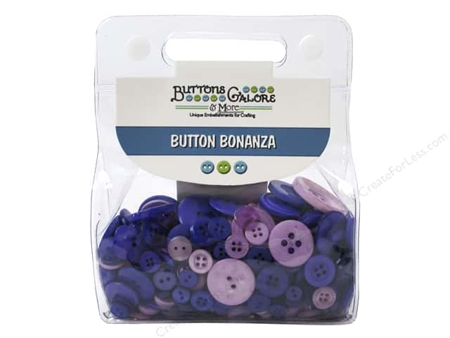 Buttons Galore Button Bonanza 1/2 lb. Purple Passion