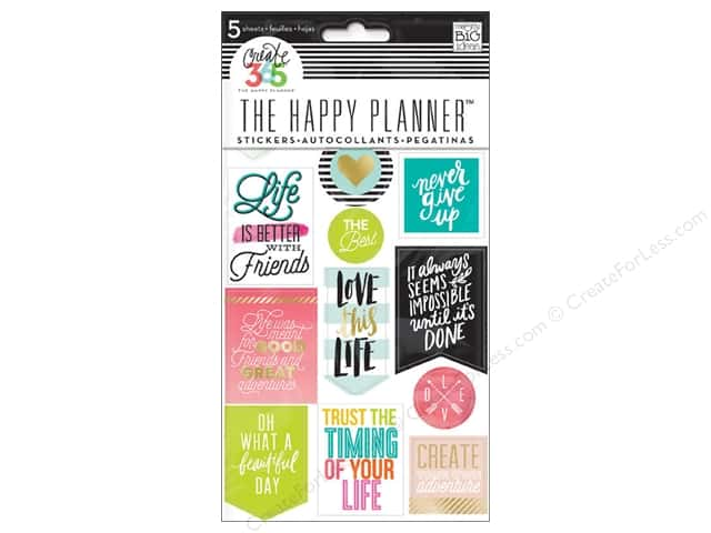 Me&My Big Ideas Create 365 Happy Planner Sticker Life Quotes
