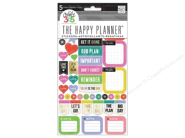 Me&My Big Ideas Create 365 Happy Planner Sticker Everyday Reminders