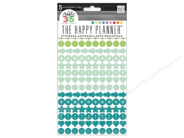 Me&My Big Ideas Create 365 Happy Planner Sticker Colorful Dots