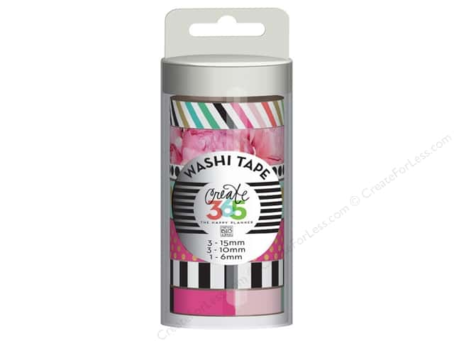 Me&My Big Ideas Collection Create 365 Happy Planner Washi Tape Peony