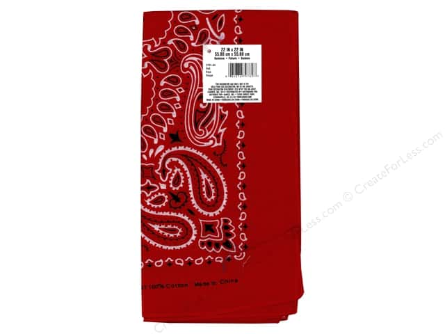Darice Bandana 22 x 22 in. Red Paisley