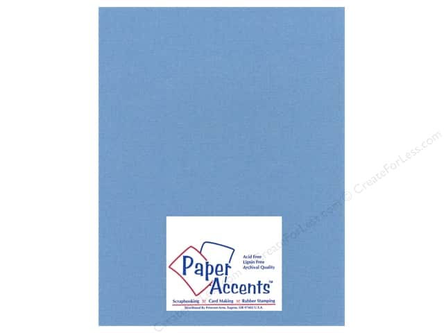 Paper Accents Cardstock 8 1/2 x 11 in. #27712 Glimmer Blue Chip (25 sheets)