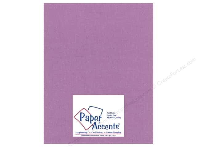 Paper Accents Cardstock 8 1/2 x 11 in. #26603 Glimmer Amethyst Jewel (25 sheets)