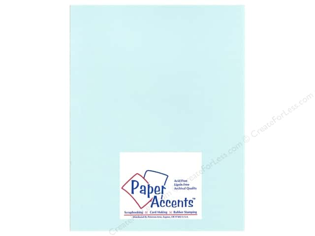 Cardstock 8 1/2 x 11 in. Glimmer Glacier Blue by Paper Accents (25 sheets)