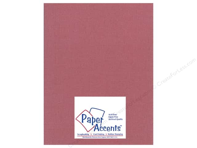 Paper Accents Cardstock 8 1/2 x 11 in. #22205 Glimmer Exotic Red (25 sheets)