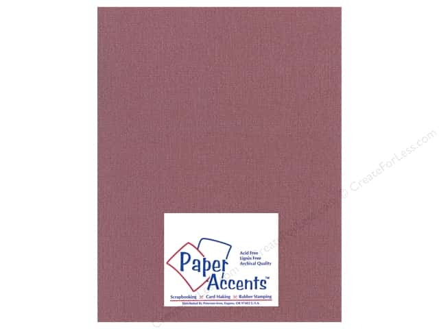 Paper Accents Cardstock 8 1/2 x 11 in. #22206 Glimmer Cranberry Zing (25 sheets)