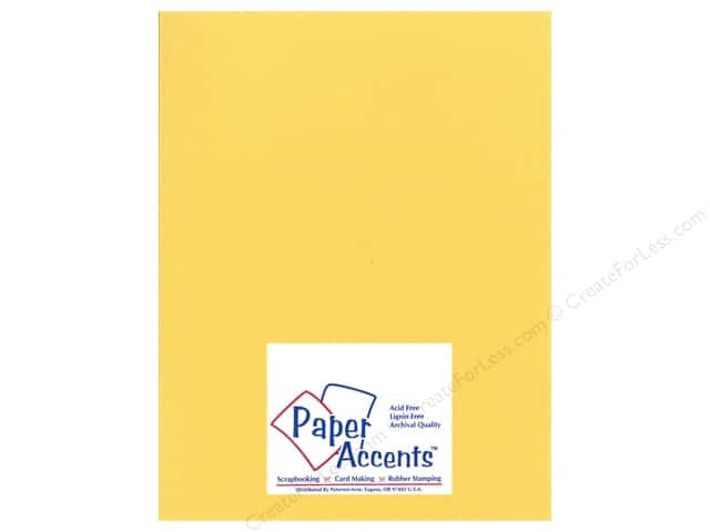 Paper Accents Cardstock 8 1/2 x 11 in. #24405 Glimmer Golden Yellow (25 sheets)