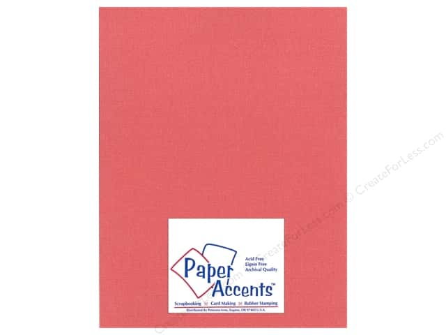Paper Accents Cardstock 8 1/2 x 11 in. #22203 Glimmer Imperial Red (25 sheets)
