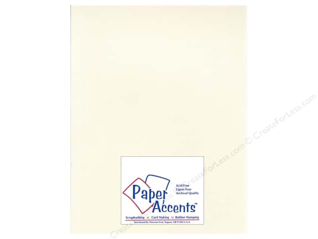 Paper Accents Cardstock 8 1/2 x 11 in. #28803 Glimmer Irish Cream (25 sheets)