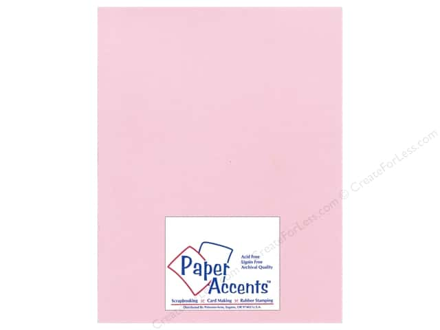 Paper Accents Cardstock 8 1/2 x 11 in. #21108 Glimmer Pink Delight (25 sheets)