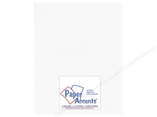 Cardstock 8 1/2 x 11 in. Glimmer Polar Bear by Paper Accents (25 sheets)