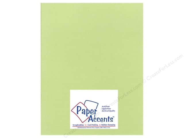 Cardstock 8 1/2 x 11 in. Glimmer Willow Green by Paper Accents (25 sheets)