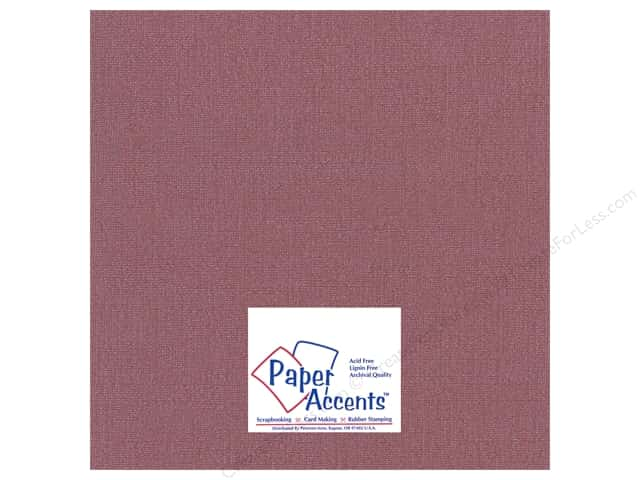 Paper Accents Cardstock 12 x 12 in. Glimmer Cranberry Zing (25 sheets)