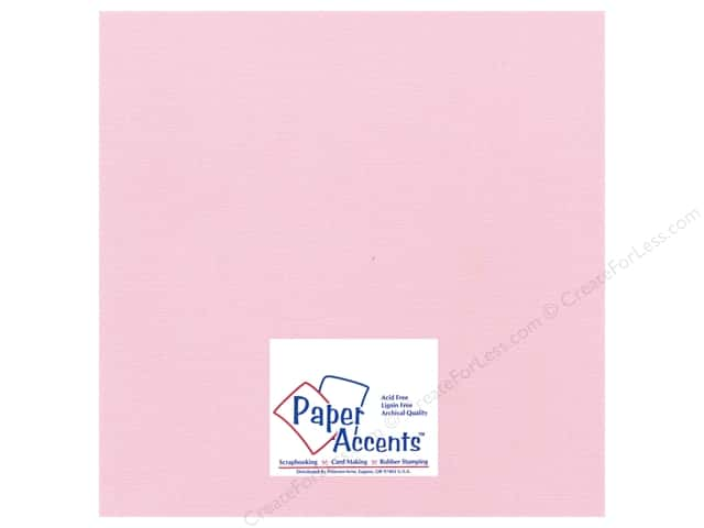 Paper Accents Cardstock 12 x 12 in. #21108 Glimmer Pink Delight (25 sheets)