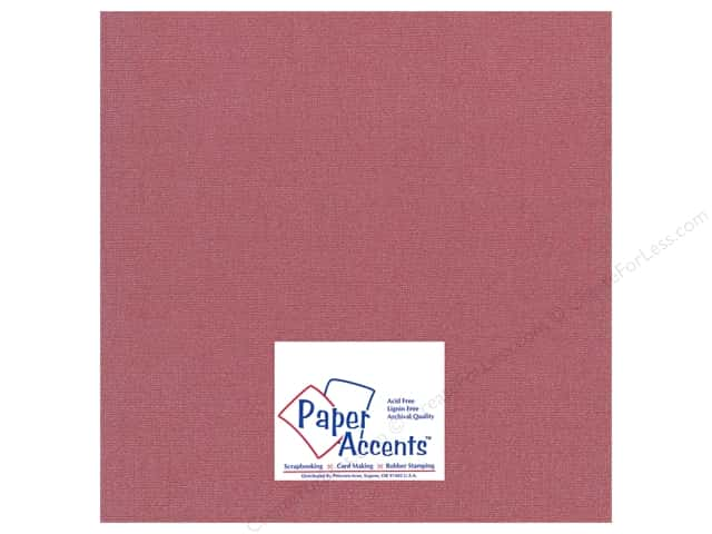 Paper Accents Cardstock 12 x 12 in. Glimmer Exotic Red