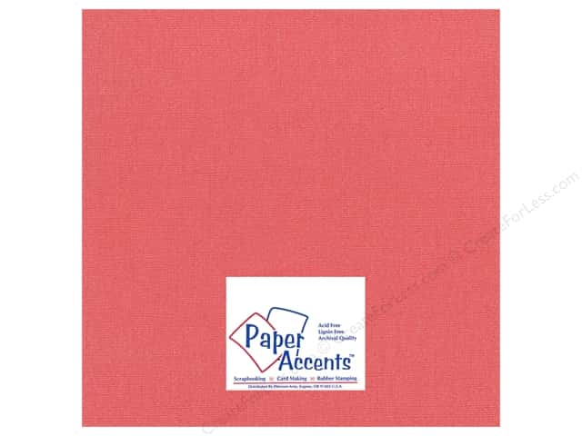 Cardstock 12 x 12 in. Glimmer Exotic Red by Paper Accents (25 sheets)