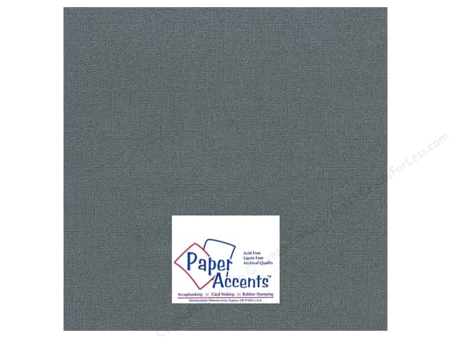 Paper Accents Cardstock 12 x 12 in. Glimmer Black Bear (25 sheets)