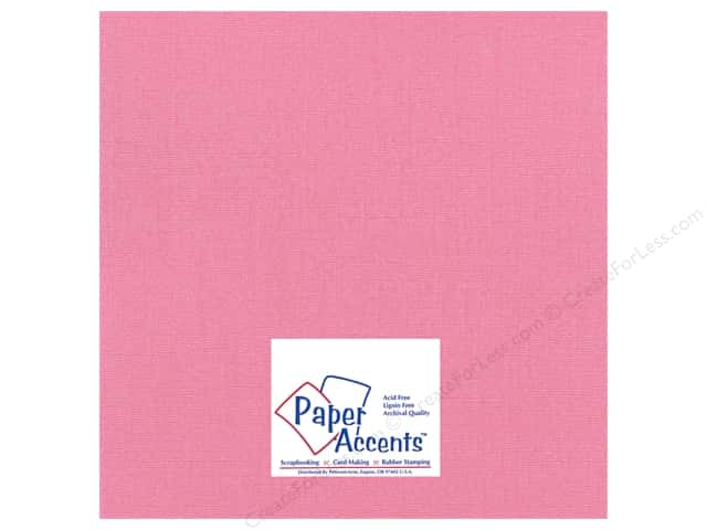 Cardstock 12 x 12 in. Glimmer Frosty Pink by Paper Accents (25 sheets)
