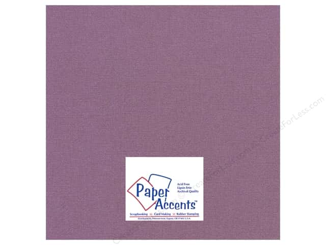 Paper Accents Cardstock 12 x 12 in. #26604 Glimmer Purple Velvet (25 sheets)