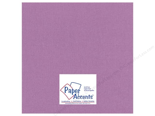 Paper Accents Cardstock 12 x 12 in. Glimmer Amethyst Jewel (25 sheets)