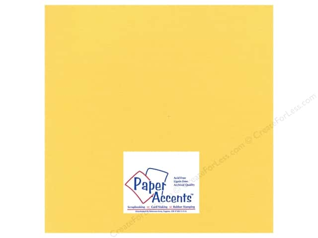 Paper Accents Cardstock 12 x 12 in. #24405 Glimmer Golden Yellow (25 sheets)