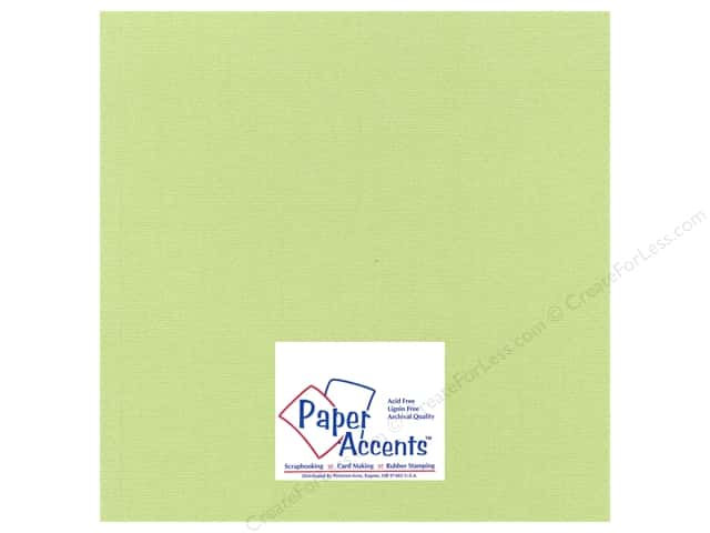Cardstock 12 x 12 in. Glimmer Willow Green by Paper Accents (25 sheets)