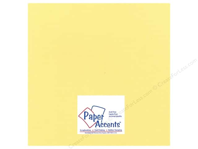 Cardstock 12 x 12 in. Glimmer Sunglow by Paper Accents (25 sheets)