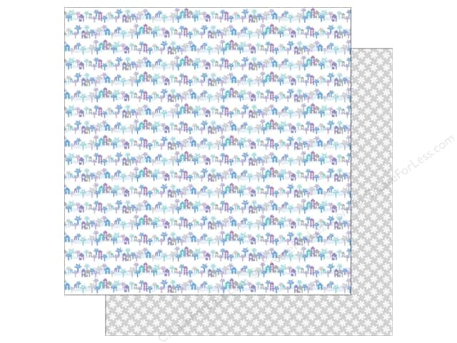 Doodlebug 12 x 12 in. Paper Polar Pals Sugartown (25 sheets)