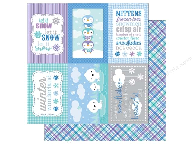 Doodlebug 12 x 12 in. Paper Polar Pals Winter Weave (25 sheets)