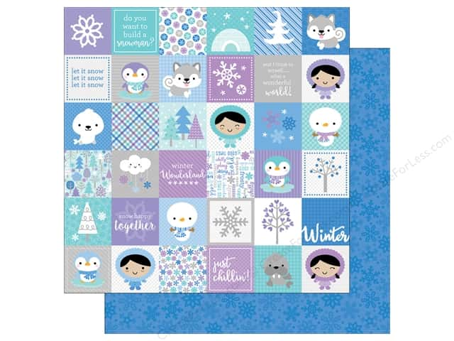 Doodlebug 12 x 12 in. Paper Polar Pals Winters Night (25 sheets)
