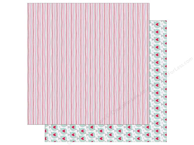 Doodlebug Paper 12 x 12 in. Sweet Things Hearts Strings (25 sheets)