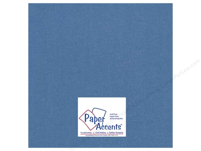 Cardstock 12 x 12 in. Glimmer Sapphire Sparkle by Paper Accents (25 sheets)