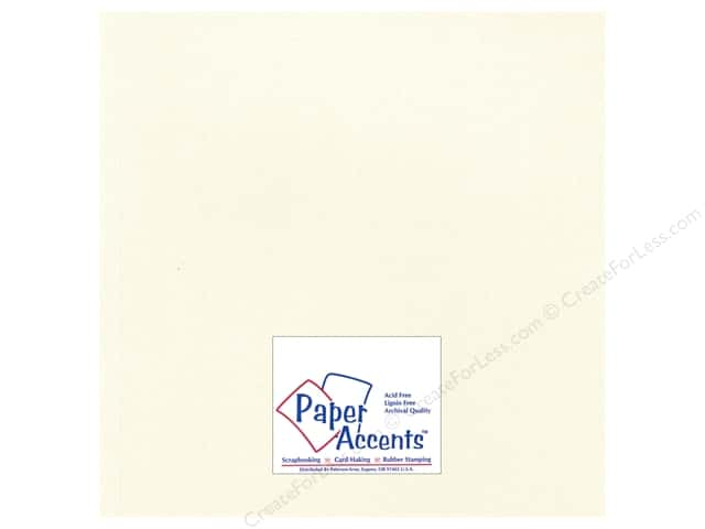 Paper Accents Cardstock 12 x 12 in. #28803 Glimmer Irish Cream (25 sheets)