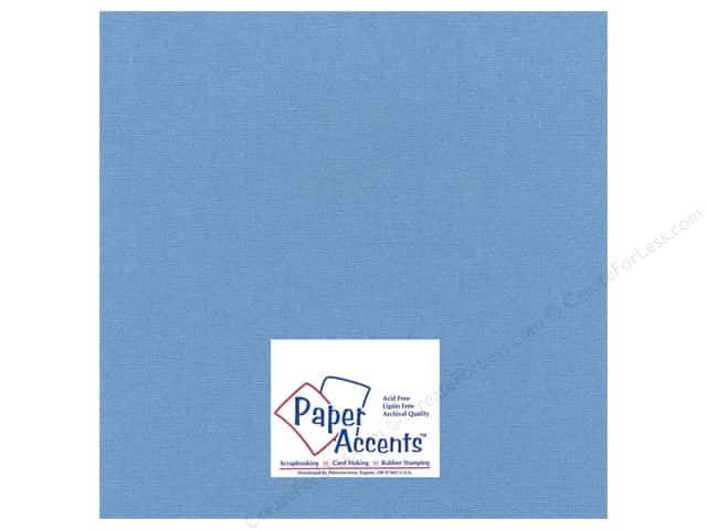 Paper Accents Cardstock 12 x 12 in. Glimmer Blue Chip (25 sheets)