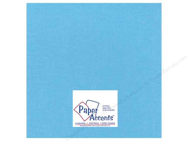 Cardstock 12 x 12 in. Glimmer B'dazzled Blue by Paper Accents (25 sheets)