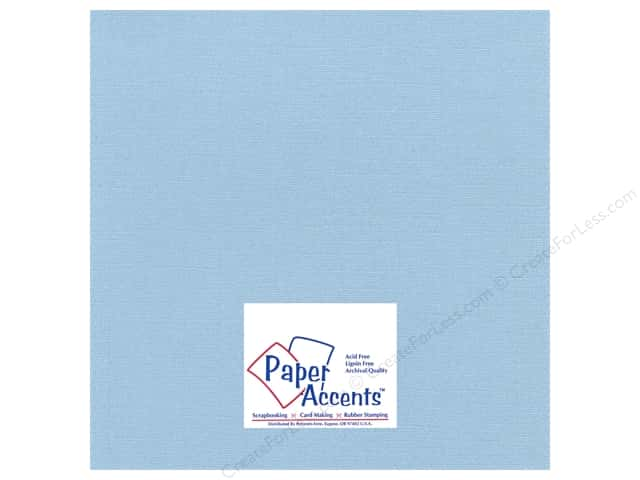 Paper Accents Cardstock 12 x 12 in. #27710 Glimmer Soft Blue (25 sheets)
