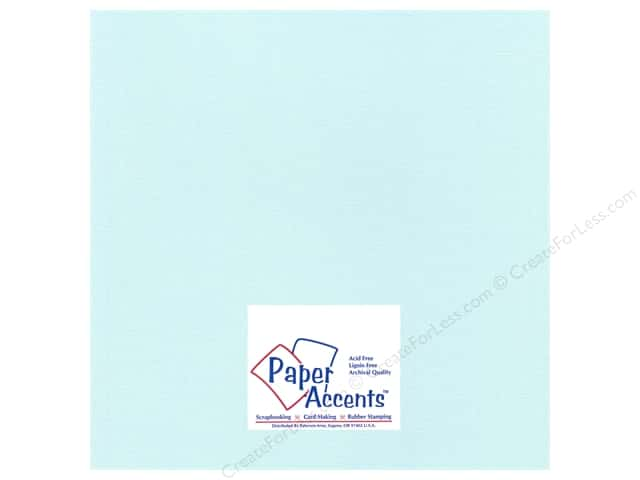 Paper Accents Cardstock 12 x 12 in. #27711 Glimmer Glacier Blue (25 sheets)