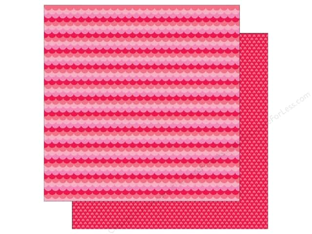 Doodlebug Paper 12 x 12 in. Sweet Things Sweetheart Scallop (25 sheets)