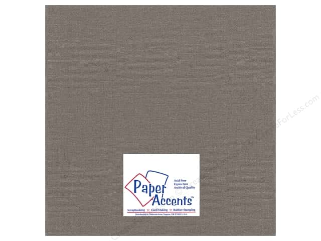 Paper Accents Cardstock 12 x 12 in. Glimmer Barrel Brown