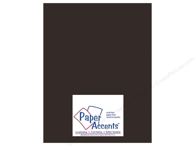 Cardstock 8 1/2 x 11 in. Heavyweight Smooth Black Suede by Paper Accents (25 sheets)