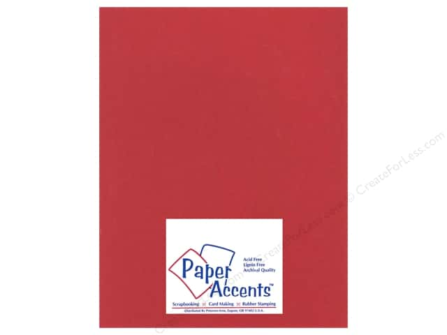 Paper Accents Cardstock 8 1/2 x 11 in. #12202 Heavyweight Smooth Chinese Red (25 sheets)