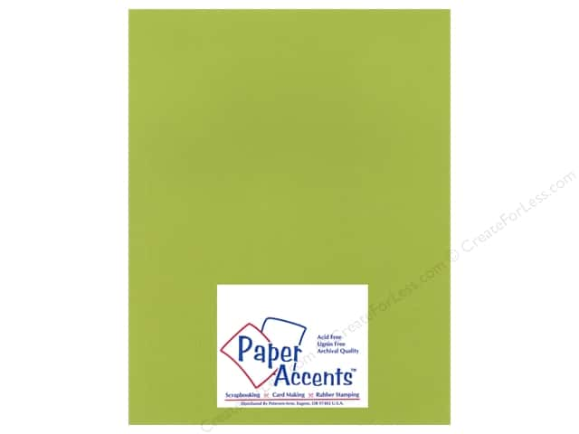 Paper Accents Cardstock 8 1/2 x 11 in. #15502 Heavyweight Smooth Crisp Green (25 sheets)
