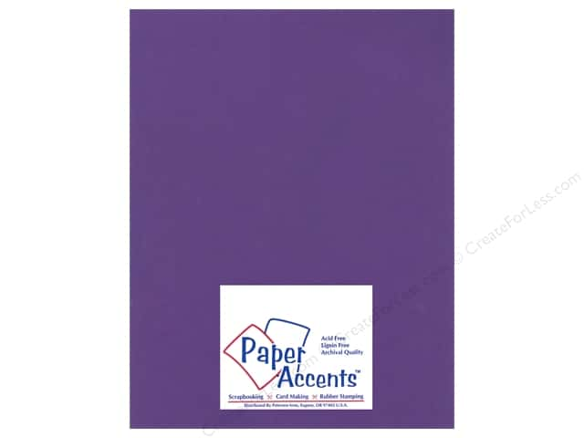 Paper Accents Cardstock 8 1/2 x 11 in. #16602 Heavyweight Smooth Cyber Grape (25 sheets)