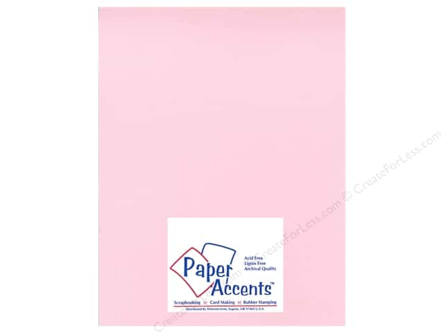 Cardstock 8 1/2 x 11 in. Heavyweight Smooth Ballerina Pink by Paper Accents (25 sheets)