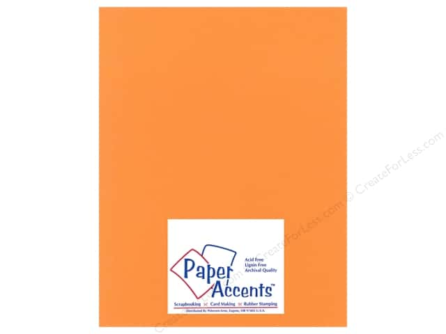Cardstock 8 1/2 x 11 in. Heavyweight Smooth Candied Yam by Paper Accents (25 sheets)