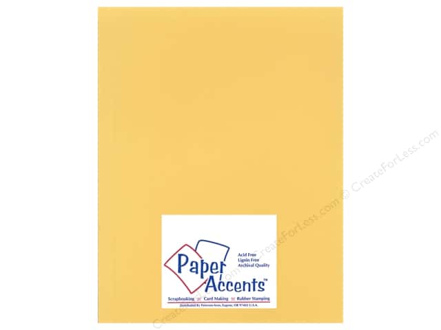Cardstock 8 1/2 x 11 in. Heavyweight Smooth Antique Gold by Paper Accents (25 sheets)