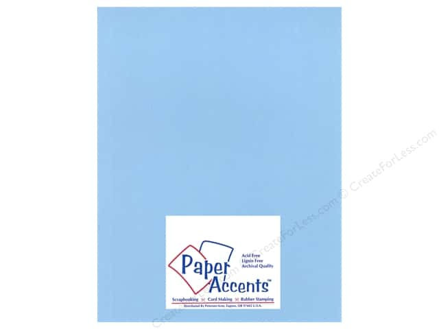 Paper Accents Cardstock 8 1/2 x 11 in. #17705 Heavyweight Smooth Moonstone Blue (25 sheets)