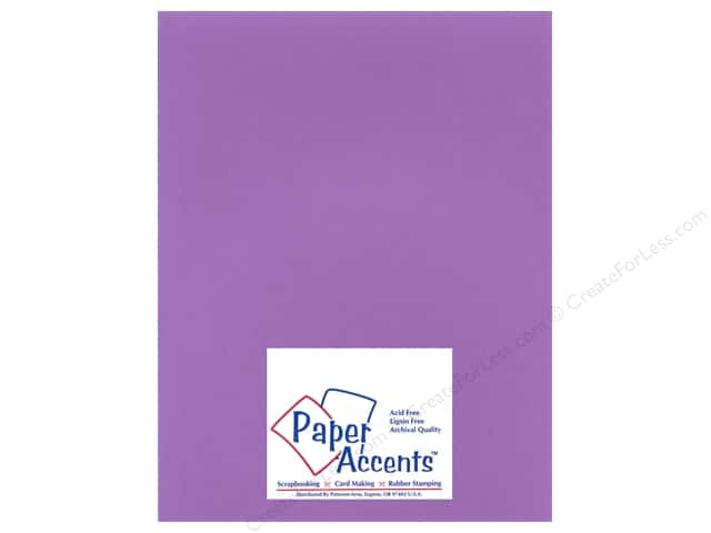 Paper Accents Cardstock 8 1/2 x 11 in. #16601 Heavyweight Smooth Purple Hearts (25 sheets)